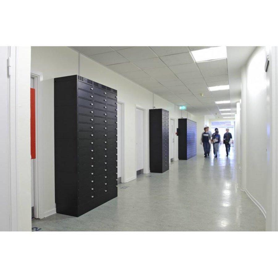Note Locker 12 oplaad- en opbergkast met 12 afzonderlijke, afsluitbare en opbergruimtes-4