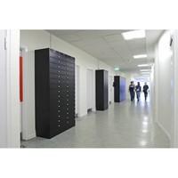 Leba Note Locker 12 oplaad- en opbergkast met 12 afzonderlijke, afsluitbare en opbergruimtes
