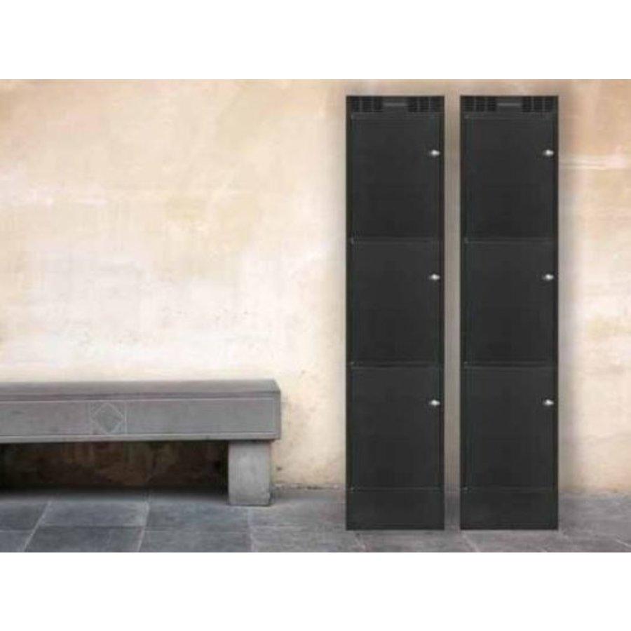Leba Note Locker 3 oplaad- en opbergkast met 3 afzonderlijke, afsluitbare en opbergruimtes