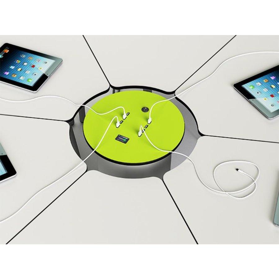 Verrijdbare stroomzuil met 2 stopcontacten en 2 USB poorten, oplaadbare 100 Ah batterij voor 6 uur stroom-1