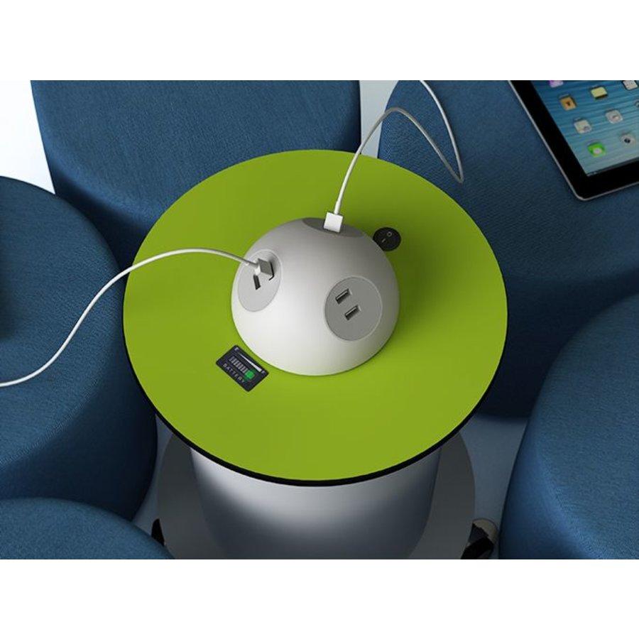 Verrijdbare stroomzuil met 2 stopcontacten en 2 USB poorten, oplaadbare 50 Ah batterij voor 4 uur stroom-2