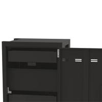 thumb-Verrijdbaar laadstation; opladen van 24 iPads, Tablets, Chromebooks in een afsluitbare stalen kast-3
