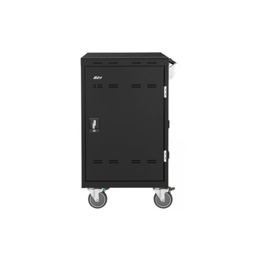 Verrijdbaar laadstation; opladen van 24 iPads, Tablets, Chromebooks in een afsluitbare stalen kast-5