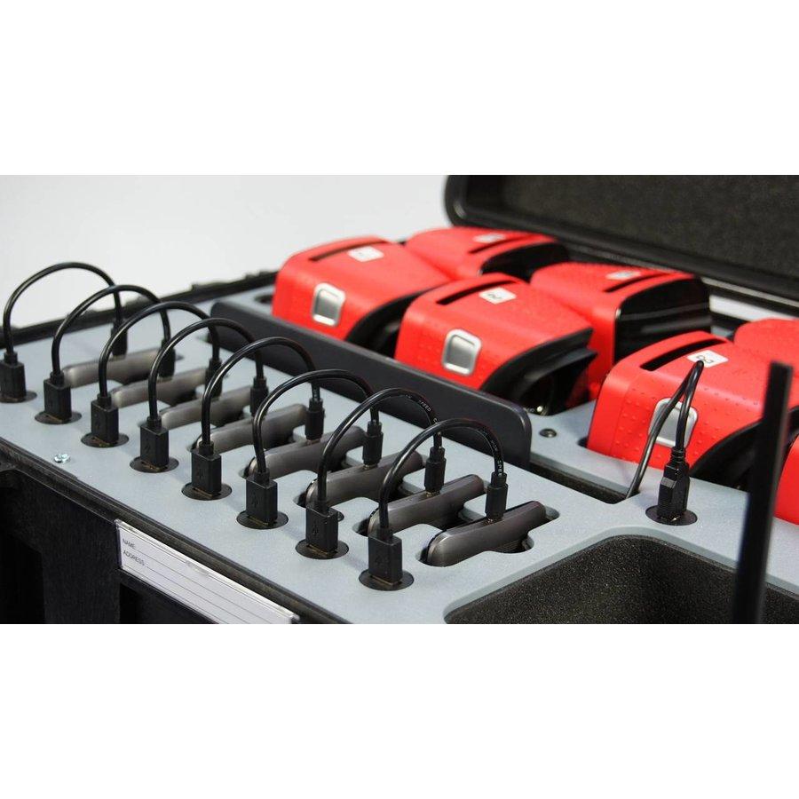 Koffer met 8 VR brillen, tablet en router-2