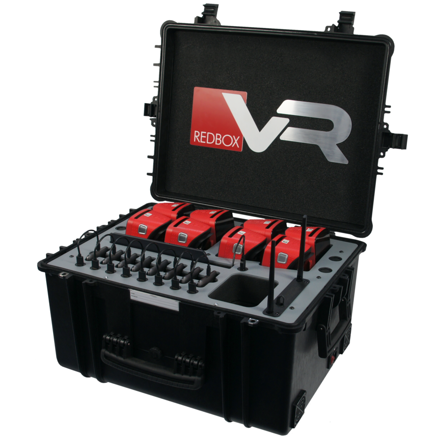 Koffer met 8 VR brillen, tablet en router-1