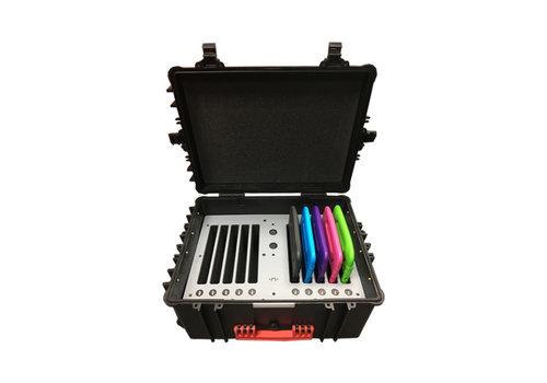 Parotec-IT opladen (& optioneel syncen ) C95 koffer voor iPads met KidsCover hoezen