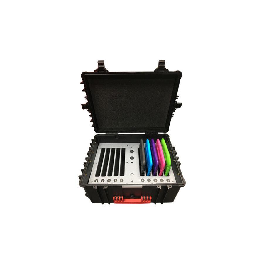iNcharge/ iNsync C95 opberg, laad, synchronisatie en transport koffer voor maximaal 10 iPads met KidsCovers-1
