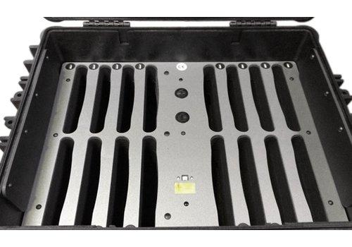 """Parotec-IT opladen (& optioneel syncen )C81 koffer voor tot 16 iPads en 9-11"""" tablets met en zonder beschermhoes"""