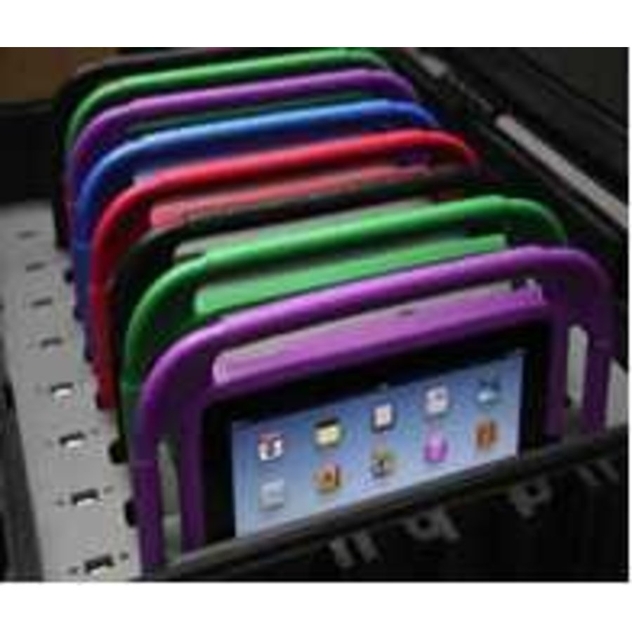 "C490; iPad dockingstation voor 10 iPad mini met Gripcase, 7""-8"" tablets-2"