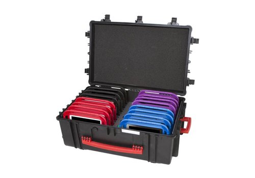 """Parotec-IT opladen & syncen C18 koffer voor 16 iPad mini en 8"""" tablets zonder en met dunne beschermhoes"""