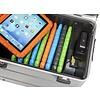 """opladen i10-KC koffertrolley voor 10 tablets 9-11"""" met kidscover zonder vakindeling zilvergrijs"""