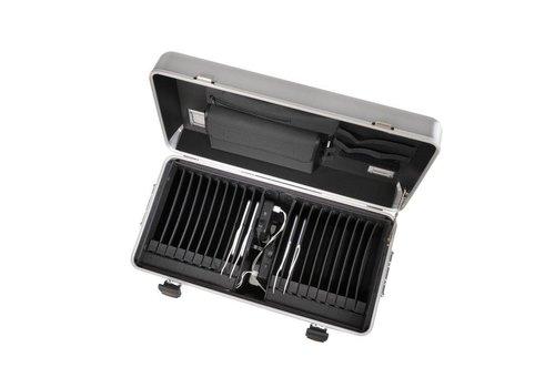 Parat opladen i20 koffertrolley voor tablets met 20 vakken zilvergrijs