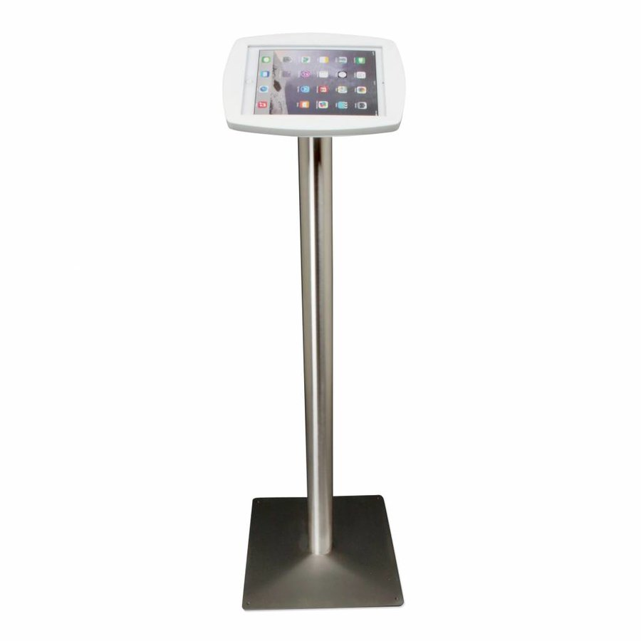 Vloerstandaard voor iPad 2017, iPad Air, iPad Pro 9.7-inch, Lusso, wit/RVS
