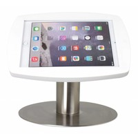 iPad 2017, iPad Air, Air 2/ iPad Pro 9.7-inch, stijlvolle stabiele tafelstandaard Lusso, inclusief slot, wit/RVS