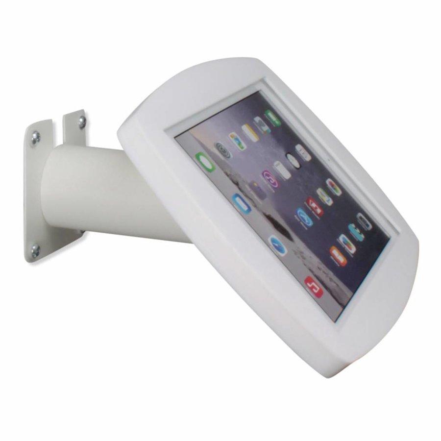 iPad 2017, iPad Air, Air 2/ iPad Pro 9.7-inch, iPadhouder wand/tafelmontage Lusso, inclusief slot, wit