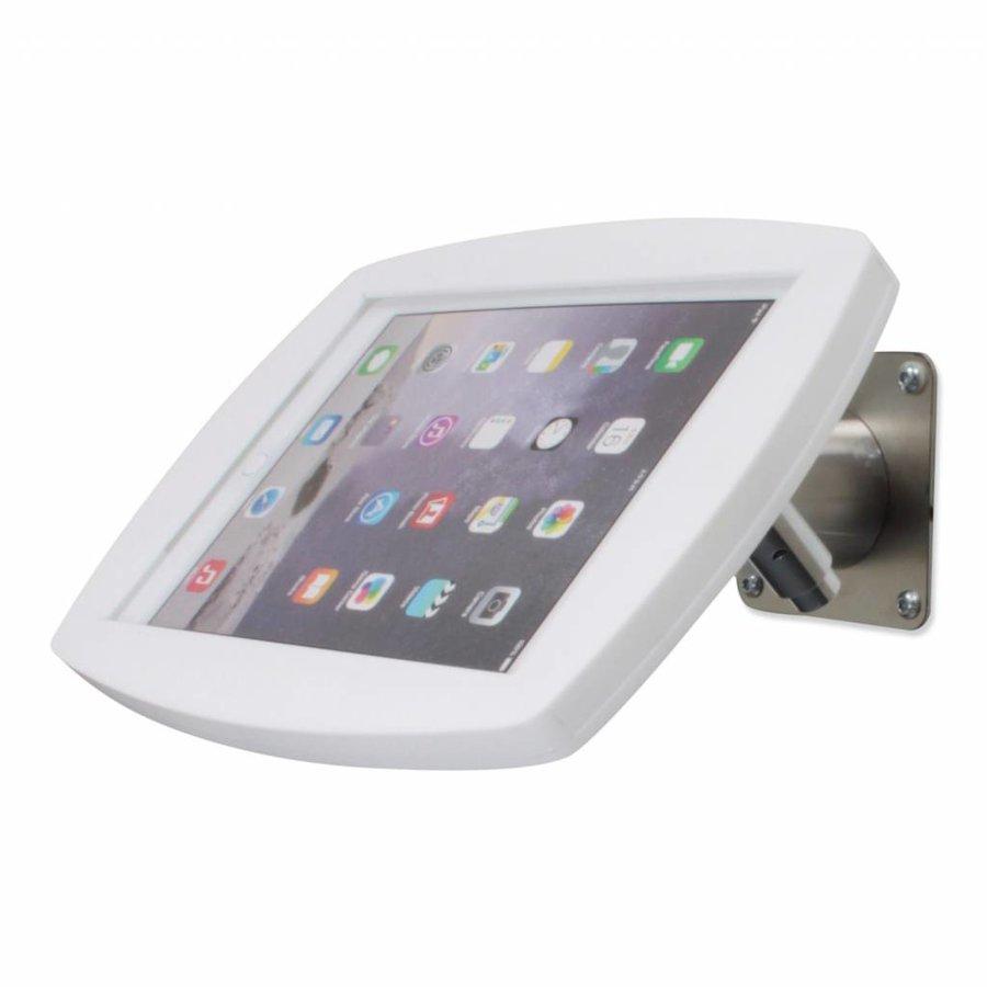 iPad 2017, iPad Air, Air 2/ iPad Pro 9.7-inch, iPadhouder wand/tafelmontage Lusso, inclusief slot, wit/RVS