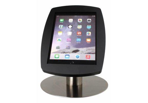 """Tafelstandaard iPad 9.7"""" Lusso zwart met RVS stalen voet"""