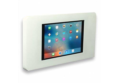 Muurhouder wit vlak tegen wand montage iPad Pro 12.9 Piatto in wit acrylaat