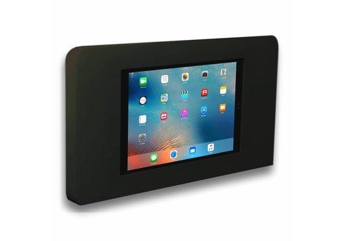 Muurhouder zwart vlak tegen wand montage iPad mini Piatto in zwart acrylaat