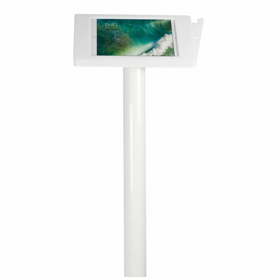 10.5-inch Pro iPadhouder, Fino, wit, staand op vloer, inclusief slot