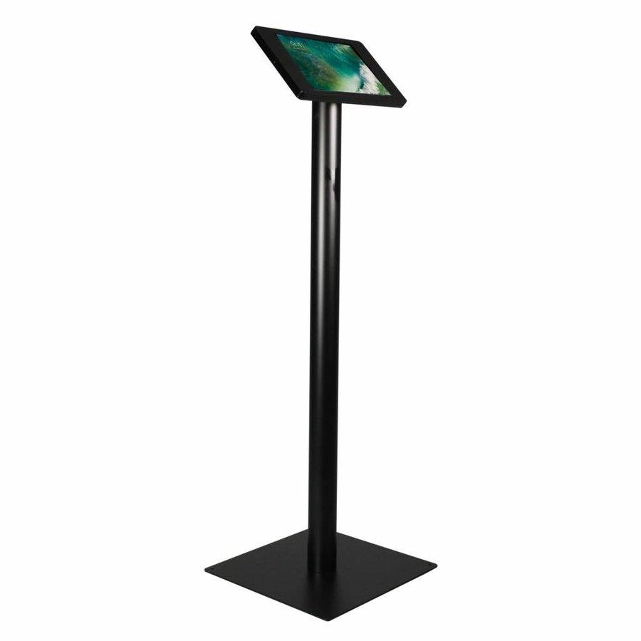 """Vloerstandaard voor iPad 10.5"""" Fino, zwart, stabiele standaard van gecoat staal met acrylaat behuizing inclusief slot"""