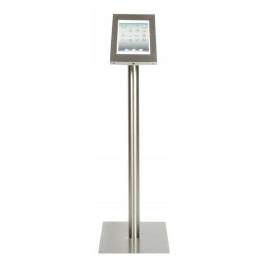 iPad 12.9 vloerstandaard Securo voor 12 tot 13 inch tablets; diefstalbestendige behuizing