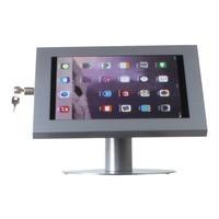 iPad 12.9 tafelstandaard grijs voor iPad Pro 12.9; Securo voor 12 tot 13 inch tablets; diefstalbestendige behuizing en voet van grijs gecoat staal