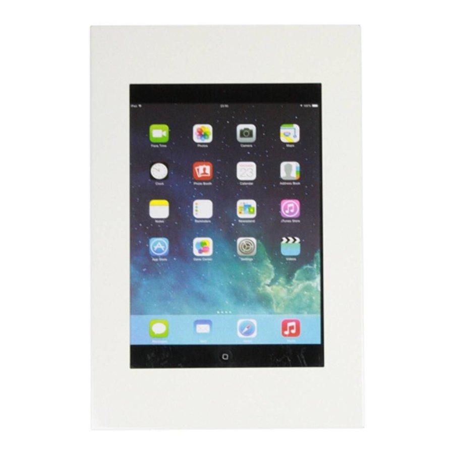 iPad mini wandhouder, vlak tegen muur montage; Securo 7 tot 8 inch tablets, wit