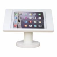 iPad houder wit voor iPad Pro 9.7/ iPad Air/2017; Fino, solide houder voor wand-, tafel montage van gecoat staal met acrylaat behuizing inclusief slot