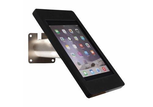 """Tablethouder wand-tafelmontage iPad 9.7"""" Fino iPad 5 zwart met RVS stalen voet voet"""