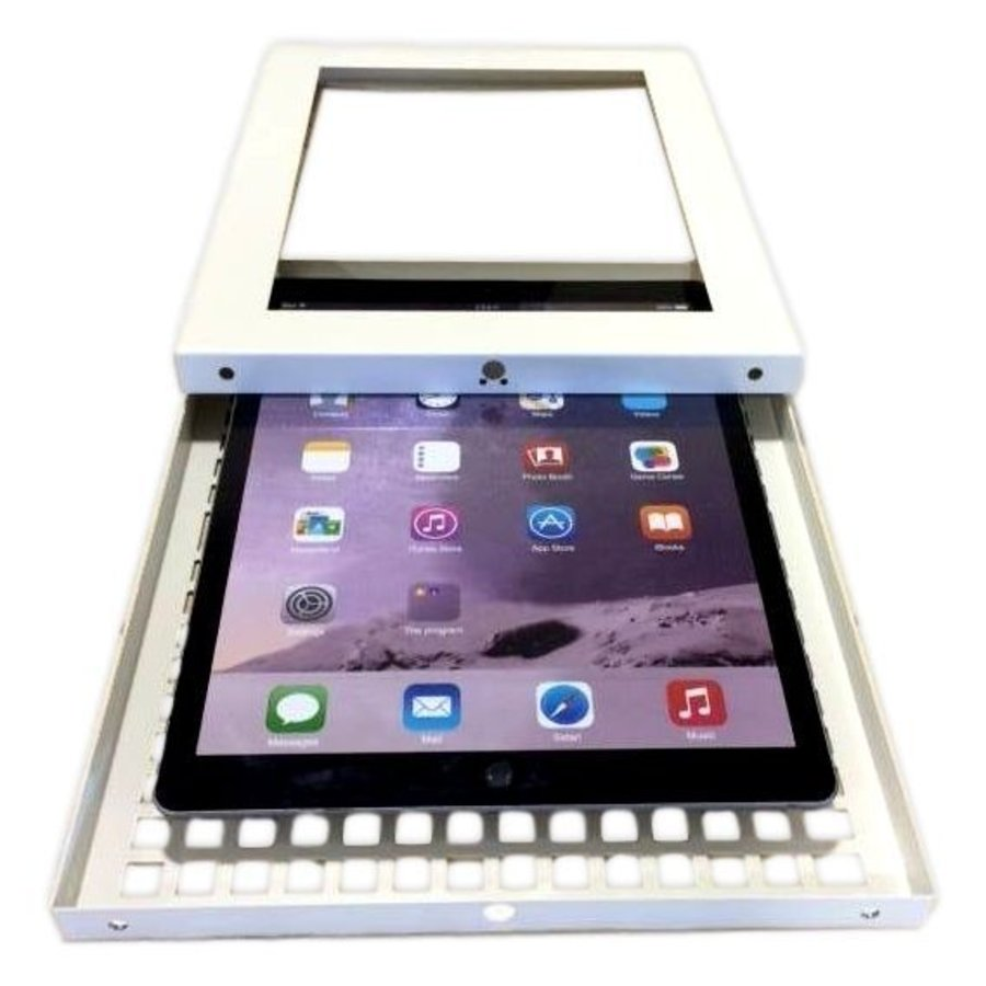 iPad Pro 10.5-inch, iPadhouder wand/tafelmontage Securo, afsluitbaar, grijs