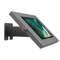 iPad 9.7/10.5 houder zilvergrijs, bevestigd aan wand of tafel voor Air, iPad 2017 en Pro 10,5-inch; Securo 9-11 inch; afgesloten behuizing en voet van zilvergrijs gecoat staal