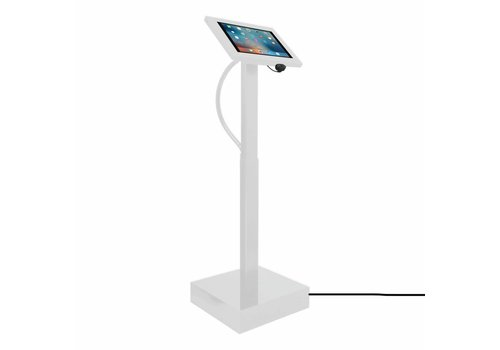 "Vloerstandaard elektrisch hoogte verstelbaar iPad 12.9"" Securo 12""-13""Ascento wit"