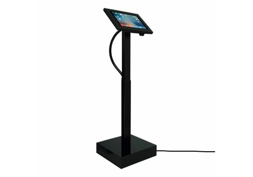 "Vloerstandaard elektrisch hoogte verstelbaar iPad 12.9"" Securo 12""-13""Ascento zwart"