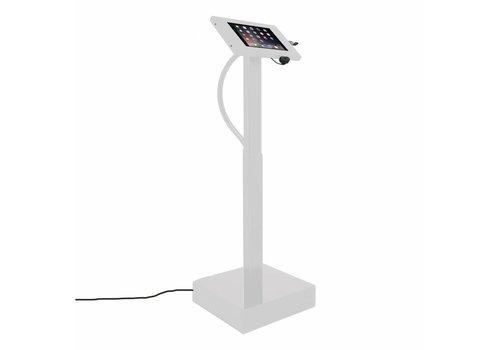 "Vloerstandaard elektrisch hoogte verstelbaar iPad 9.7"" Securo 9""-11""Ascento wit"