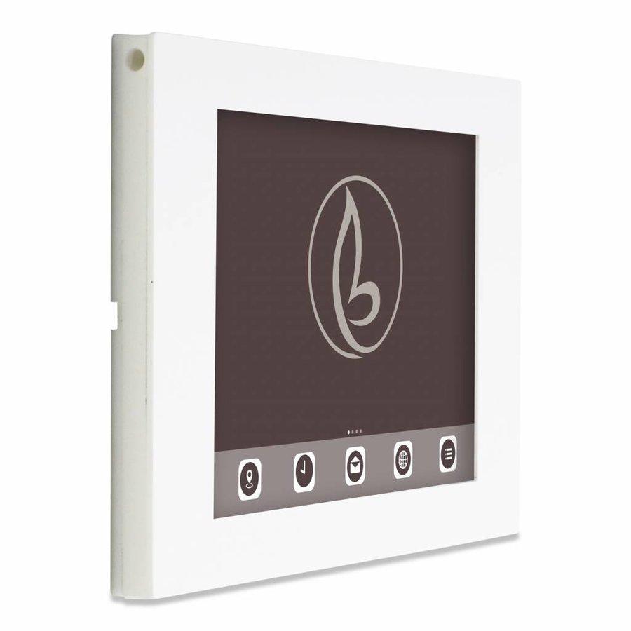 Tablethouder voor Apple iPad/Air, Piatto iPad 12.9, wit, vlak tegen muur montage