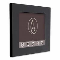 Tablethouder voor grote Apple iPad, Piatto iPad 12.9, zwart, vlak tegen muur montage
