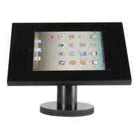 iPad 9.7/10.5 tafelstandaard, zwart voor Air, iPad 2017 en Pro 10,5-inch; Securo voor 9 tot 11 inch tablets; diefstalbestendige behuizing en voet van zwart gecoat staal