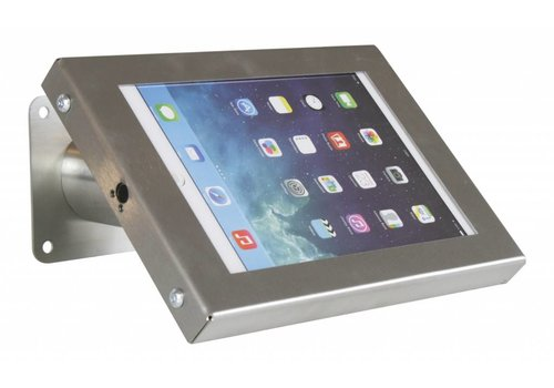 "Tablethouder RVS stalen voet wand-,tafelmontage iPad Mini Securo 7-8"" tablets"