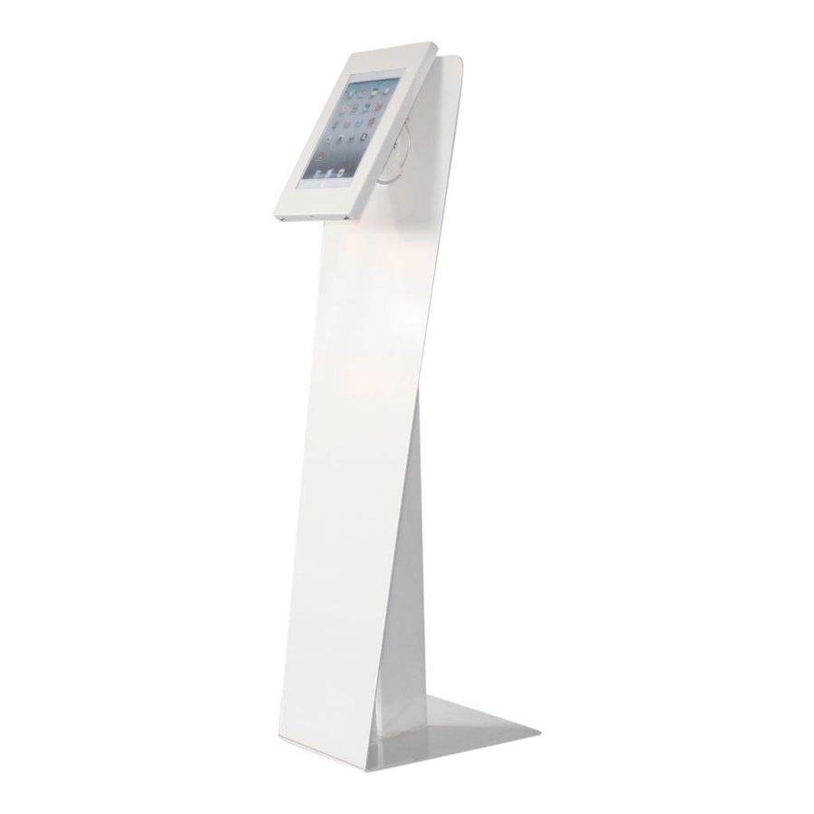 Vloerstandaard wit display voor Apple Mini; Kiosk 7 en 8 inch tablets