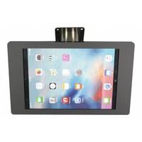 iPad houder zwart/RVS voor iPad Mini; Fino, solide houder voor wand-, tafel montage van gecoat staal met acrylaat behuizing inclusief slot