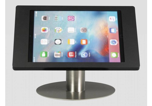 Tafelstandaard zwart/RVS iPad Pro Fino in zwart acrylaat met RVS stalen voet