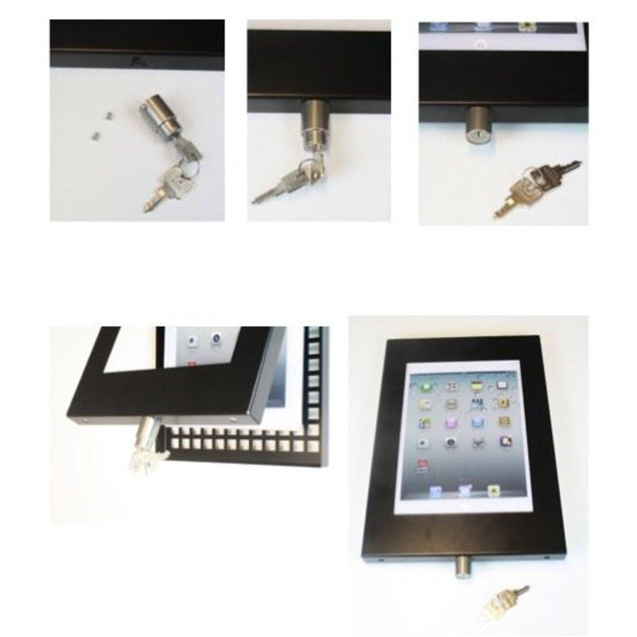 "iPad 9.7/10.5"" vloerstandaard, voor iPad Air, iPad 5, iPad 2017 en Pro 10,5-inch; Securo voor 9 tot 11 inch tablets"