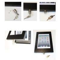 iPad mini vloerstandaard wit; Securo voor 7 tot 8 inch tablets; diefstalbestendige behuizing en voet van wit gecoat staal