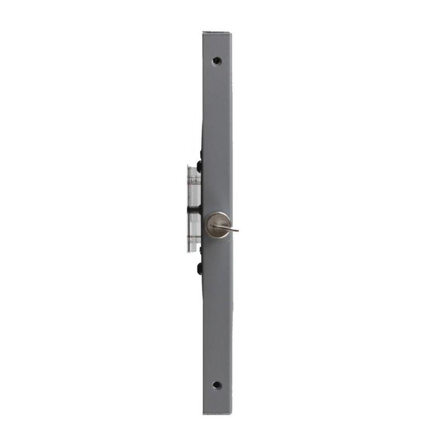 iPad 12,9 inch wandhouder, vlak tegen muur montage; Securo 12-13 inch, zilvergrijs