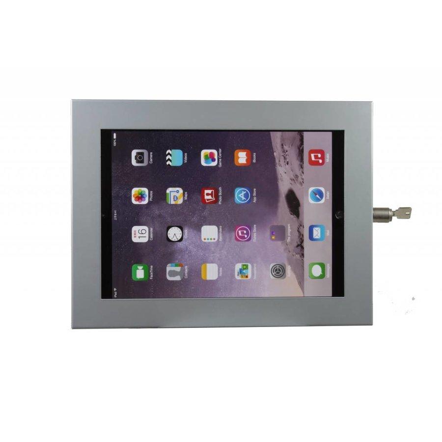 iPad 12,9 inch wandhouder, vlak tegen muur montage; Securo 12-13 inch, RVS/staal