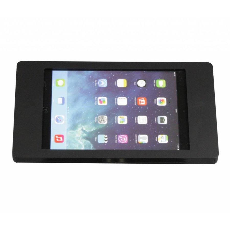 Wandhouder voor iPad Mini; Flessibile 2 kleuren acrylaat kunststof houder op zilvergrijze aluminium zwenkarm