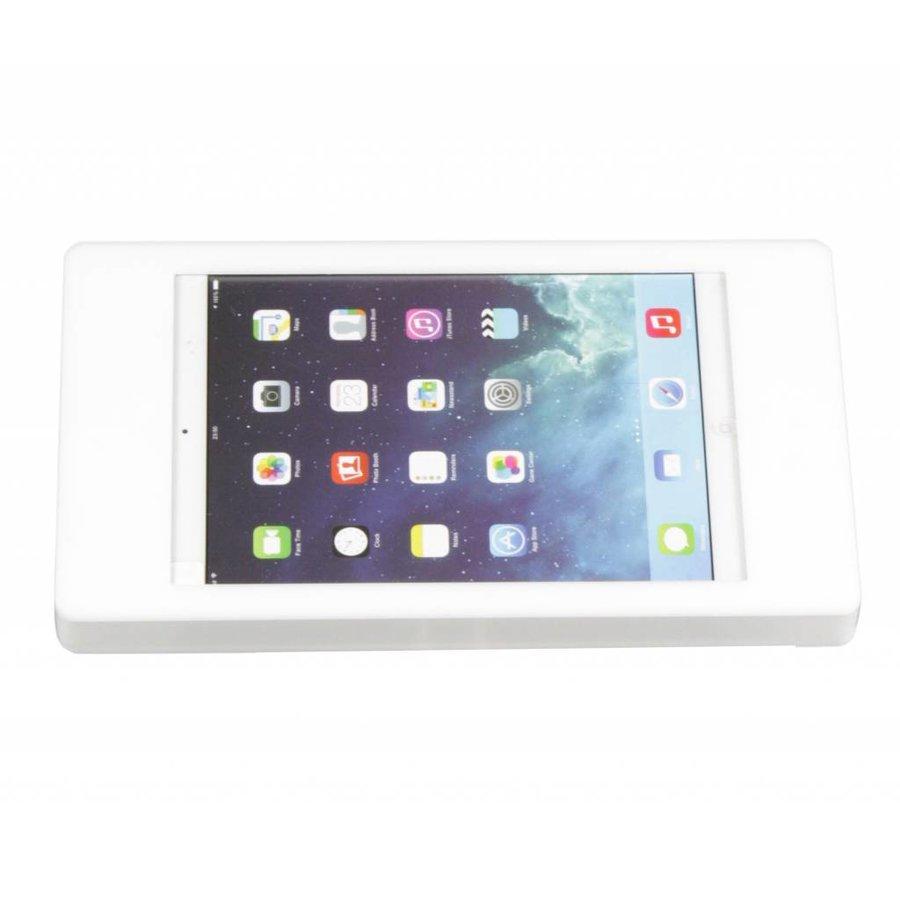 Wandhouder voor iPad Pro 12,9; Flessibile 2 kleuren acrylaat kunststof houder op zilvergrijze aluminium zwenkarm