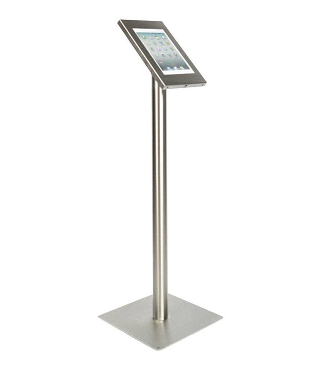 Bravour Tablet floor display stand for tablets 12-13 inch, Securo, universal casing, stainless steel