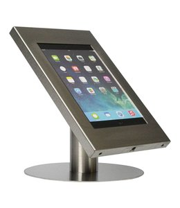 Bravour Desk standing tablet holder for tablets 9-11 inch, Securo, stainless steel